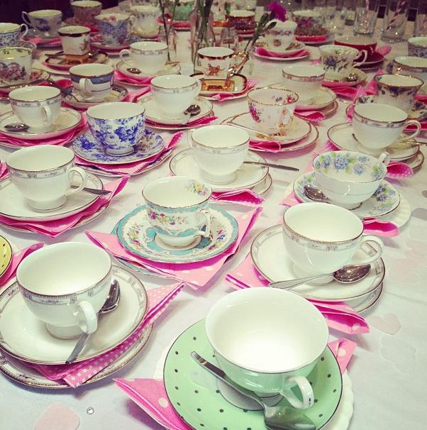 Multi-patterned teacups