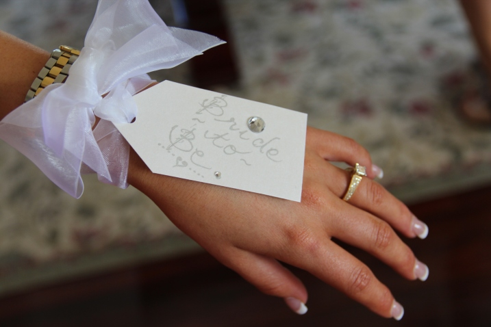 A special touch for the bridal party. We made a little tag for each member of the bridal party to wear on the day.