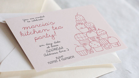 Whimsy kitchen tea invites - Etsy