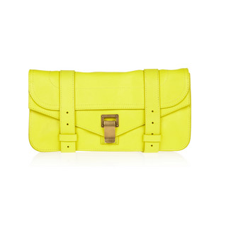 Proenza Schouler Neon Yellow Clutch