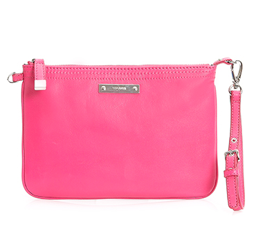 For those looking for a more affordable option, you can't go past this hot pink Marcs clutch at $99. I have it and get LOADS of comments on it every time I take it out. It delivers a perfect raspberry pop of colour to a predominantly black outfit/