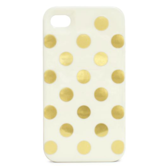 I'm loving this glamourous Kate Spade iPhone case. Gold foil polka dots? Yes please!