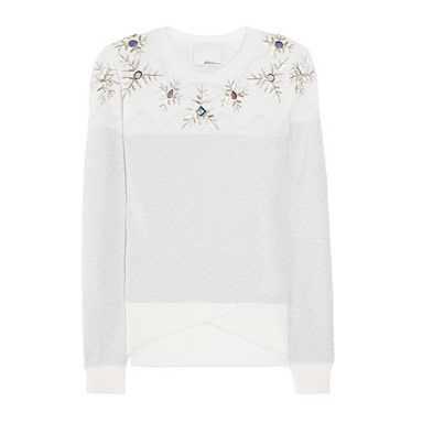 Phillip Lim Snowflake-embellished wool-blend sweater