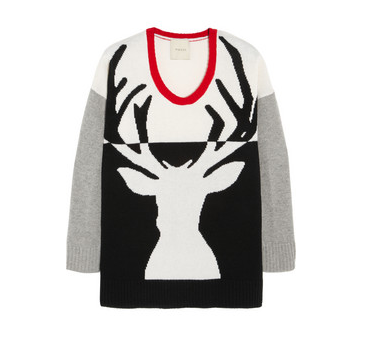 MASON BY MICHELLE MASON Reindeer-intarsia wool and cashmere-blend sweater