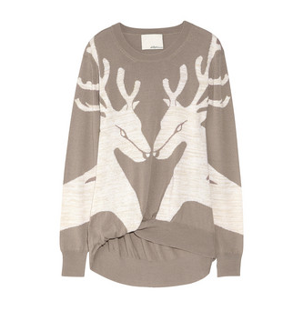 Another Phillip Lim reindeer sweater, that's anything but dorky. From Net-a-Porter
