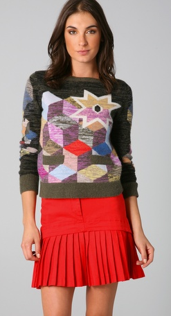 It doesn't have to be literal. This Preen Cashmere Cube Sweater is almost a Picasso-like take on Christmas! From Shopbop