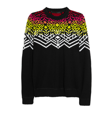 Proenza Schouler abstract snowflake-inspired merino jumper